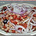 Salade de haricots blancs et tomates