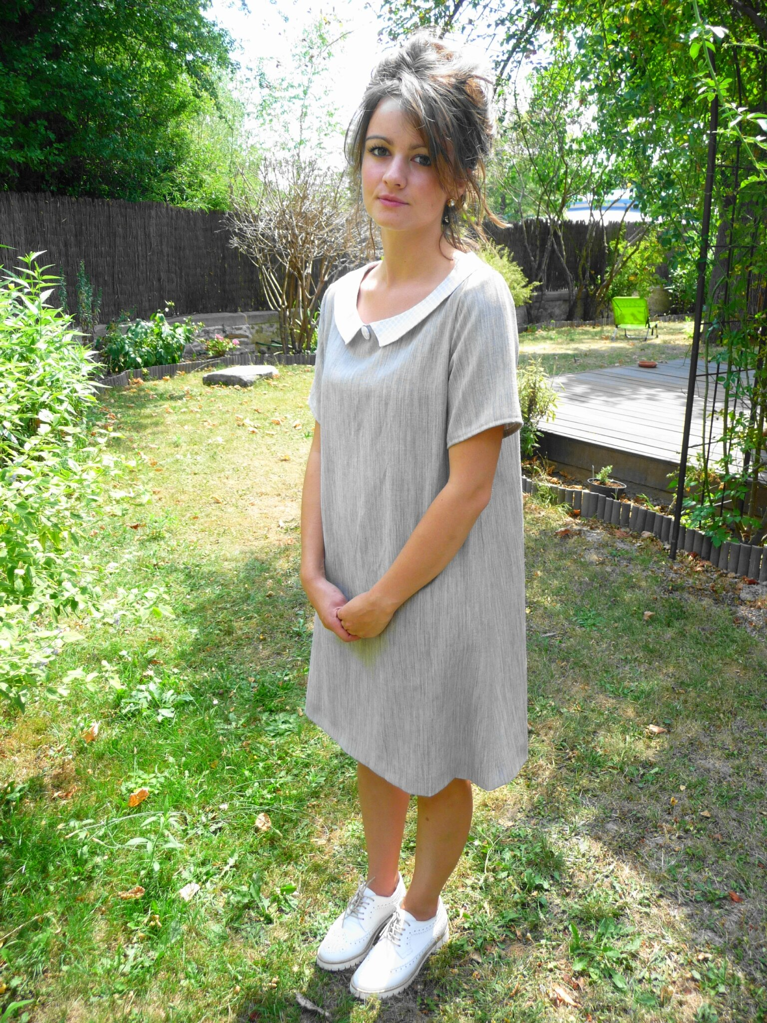 Robe Mathilde N°2 en chambray