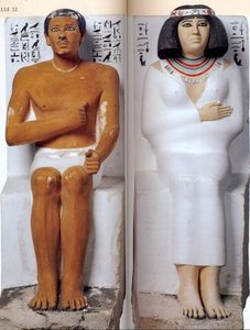 rahotep and nefret Rahotep was a son of snofru he and his wife nofret are famous through a  wonderfully preserved statue group found in their tomb at meidum.
