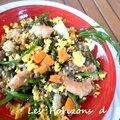 Salade composée : lentilles vertes du puy en velay, quinoa, salicornes .....