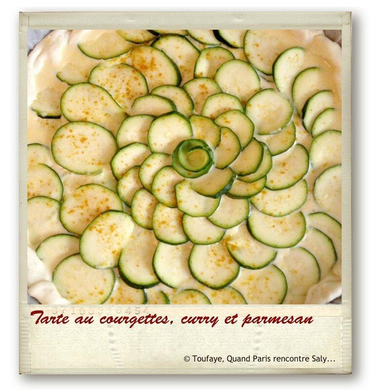 Tarte au courgettescurryparmesan
