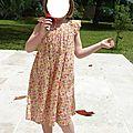 Robe froncée en liberty des nouveaux intemporels pour enfants#17