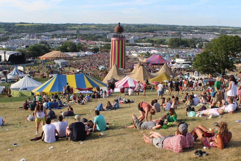 Glastonbury festival 2015 site