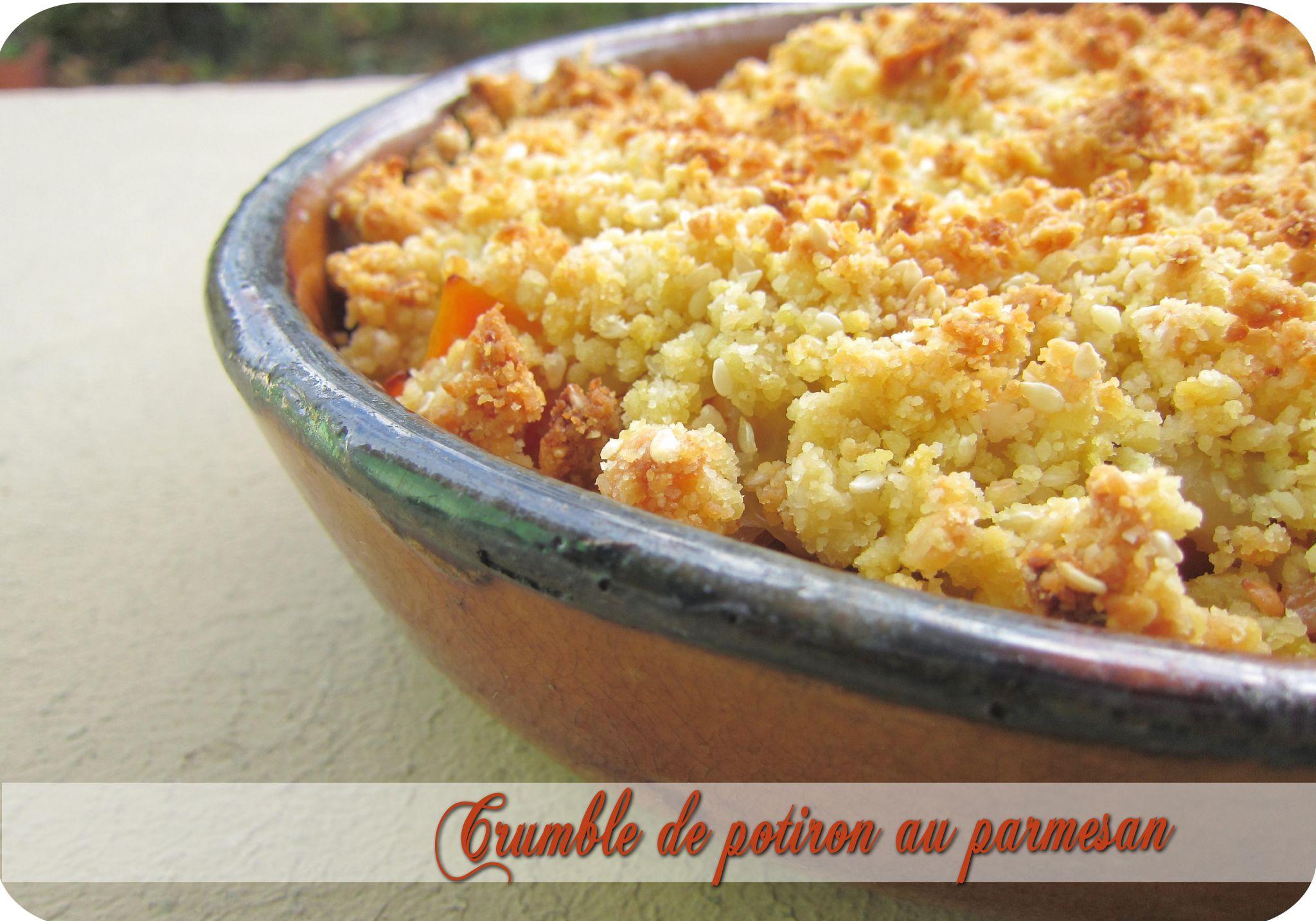 crumble de potiron au parmesan pices douces cuisine et d pendances. Black Bedroom Furniture Sets. Home Design Ideas
