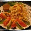 Salade de pousses de soja aux parfum d'orange