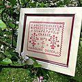 Sweet Adeline 1873, brodé par Charline