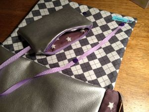 Trousse jolie pour besace girly
