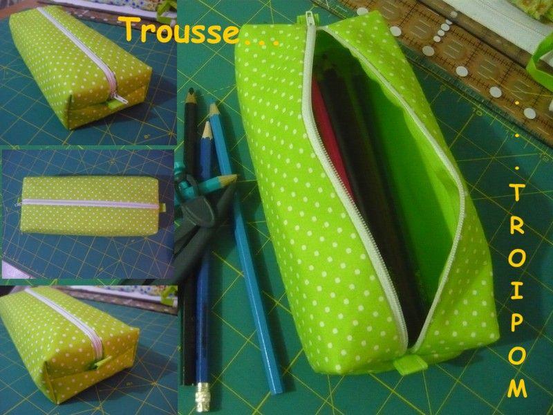 Tuto trousse angle droit carr ou rectangulaire la - Tuto trousse crayons de couleur ...