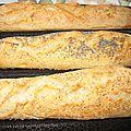 Baguettes au sésame et au pavot