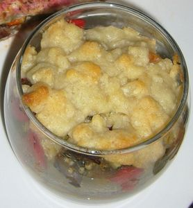 Rouget et crumble parmesan