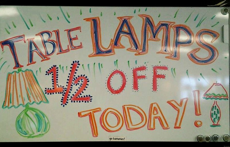 table lamps half off