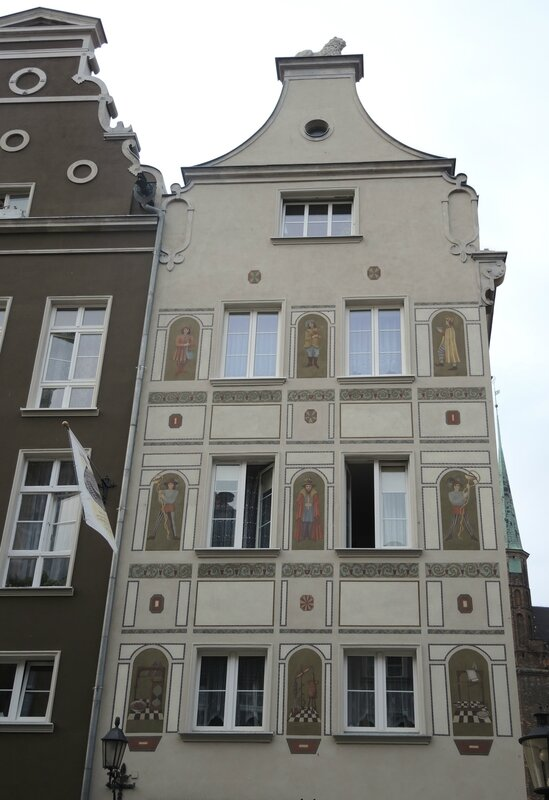 Gdansk, Voie Royale, façade (Pologne)
