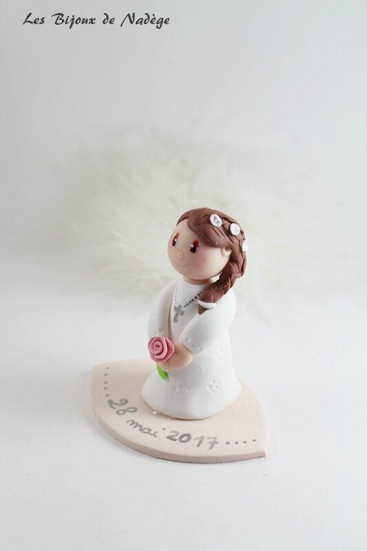 figurine gâteau communion fille