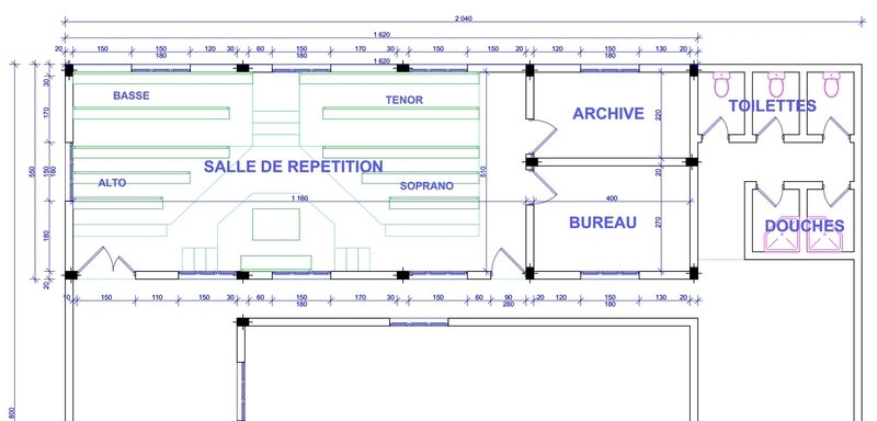 Plan future salle