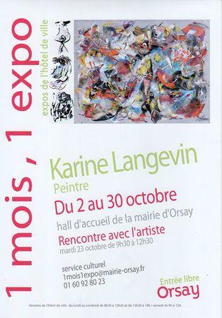 1 MOIS, 1 EXPO - orsay - Karine Langevin