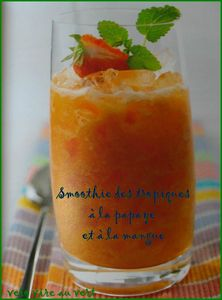 smoothie papaye mangue