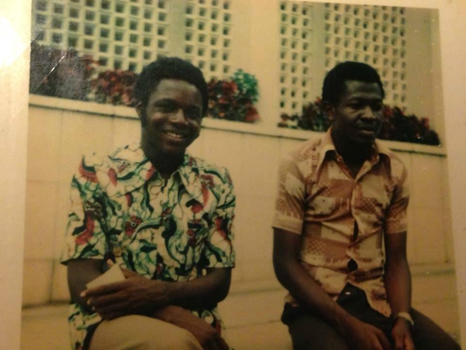 Caro et Jeff au campus de Kinshasa