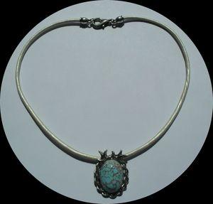 Pendentif Cabochon Matrix Turquoise(1)
