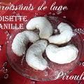 Croissants de lune vanille noisette : de délicieux sablés ultra fondants pour rosh hashana et pourim