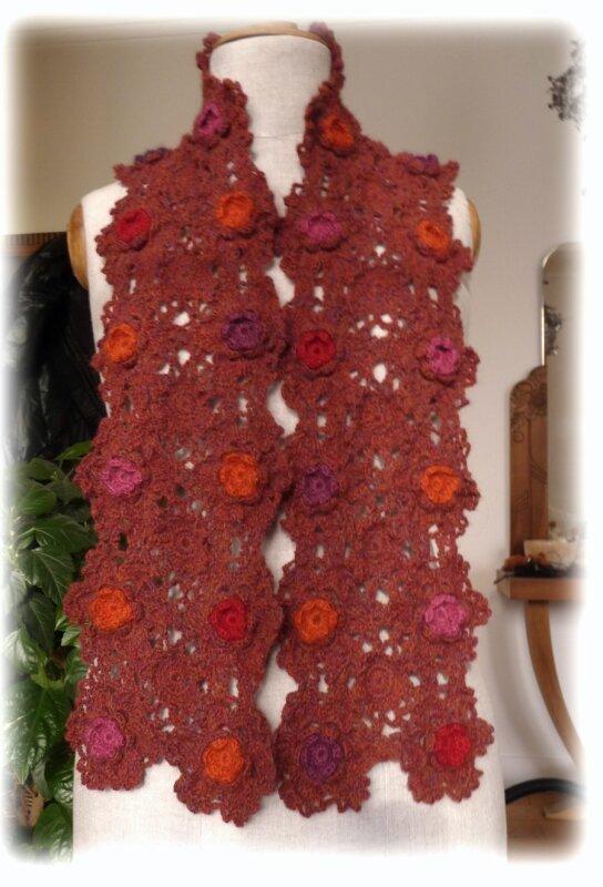 Echarpe fleurs Clover - Alpaga Drops et la Droguerie -