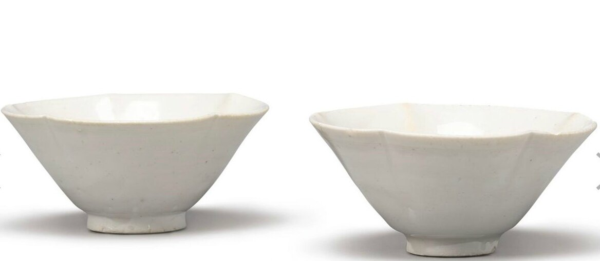 A pair of glazed white stoneware bowls, Northern Song dynasty