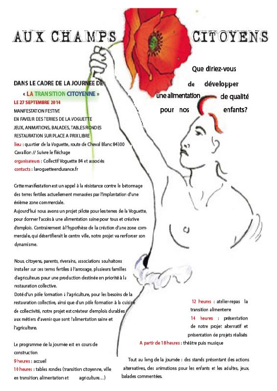 Journée de la Transition citoyenne 27 septembre 2014