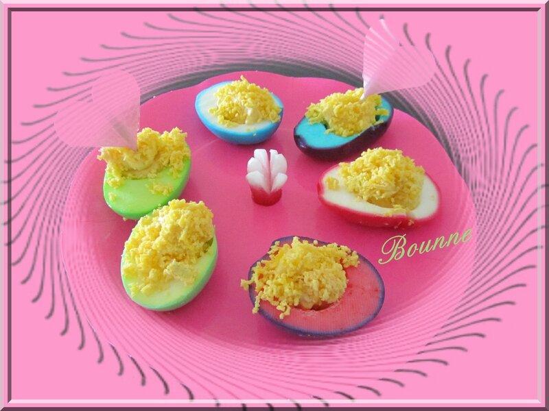 Oeuf mimosa colorés st valentin 2014 (4)