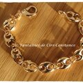 PLAQUE OR bracelet Grains de café GROS