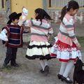 bailando en La Sagrada Familia