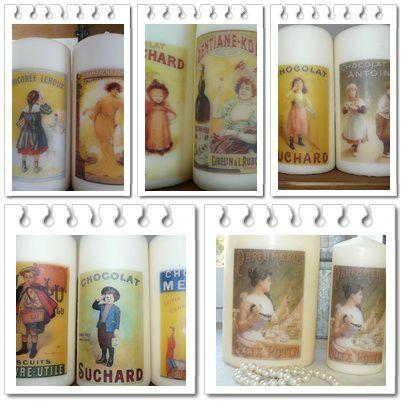 bougies collection Réclames