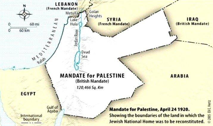 mandat sur Palestine 24 avril 1920