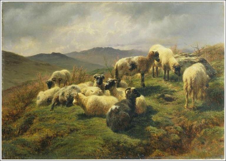 RosaBonheur1857(moutons-dans-les-Highlands)WallaceCollection