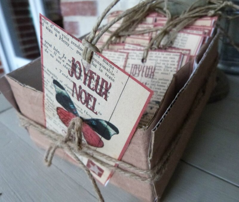 Etiquettes Joyeux Noel Papillons (110)