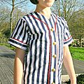 Dandelions n' dungarees: testing the old tyme baseball shirt for a girl!