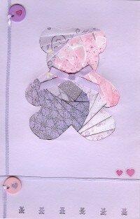 Carte iris folding ourson
