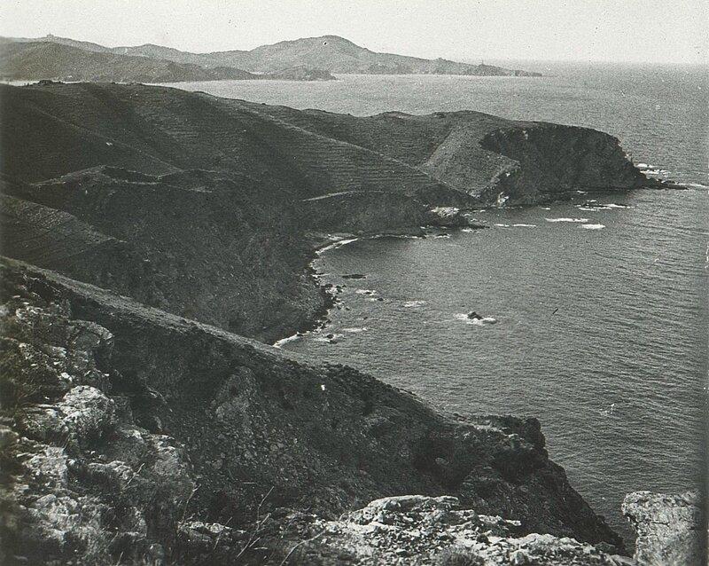 10 Vue prise du Cap de l'Abeille Au fond, le Cap Béar