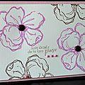 27. rose, blanc et chocolat - grosses fleurs
