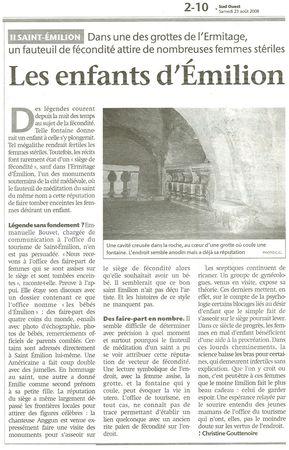 Saint-Emilion - Grotte de L'Ermitage