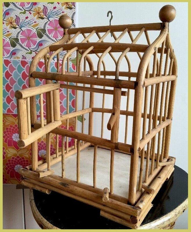 rotin cage à oiseau