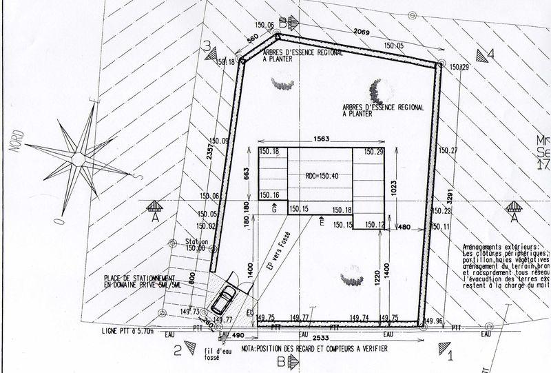 plan d'implantation de maison