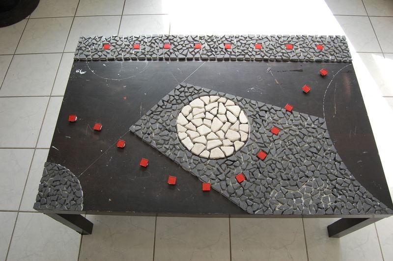 Table basse tous les messages sur table basse page 2 l 39 atelier de lydie - Modele mosaique pour plateau ...