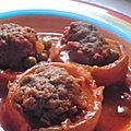 Ragout de fond d artichaud farci a la viande haché et aux petits pois