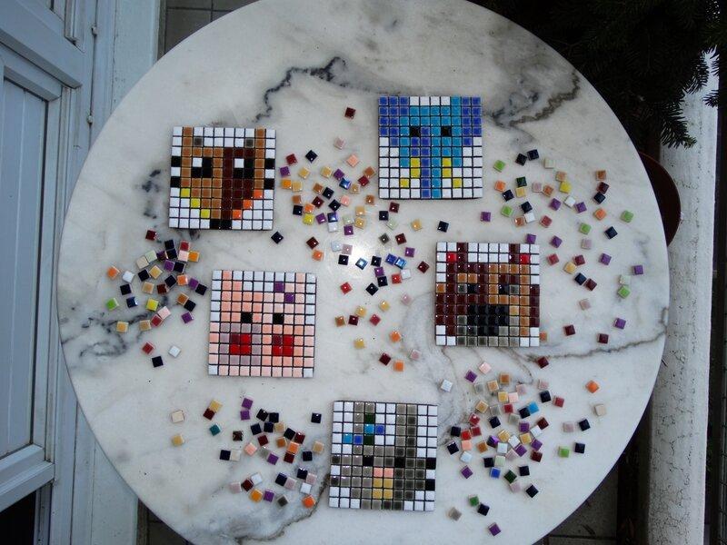 Atelier artyshoot mosaic pixel art VEOSUL 2015 JDFM
