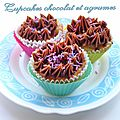 Cupcakes chocolat et agrumes