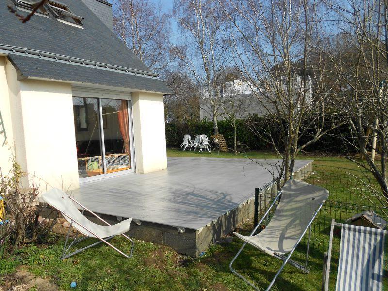 Cr ation d 39 une terrasse b ton avec un carrelage et enduits en contour de - Finition dalle beton exterieure ...
