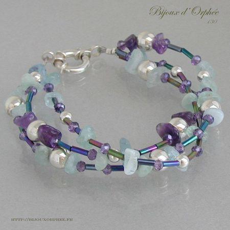 creation bracelet fantaisie perles d 39 eau douce amethyste. Black Bedroom Furniture Sets. Home Design Ideas