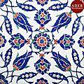 Grand carreau à dense composition florale, turquie ottomane, iznik, fin xvie siècle