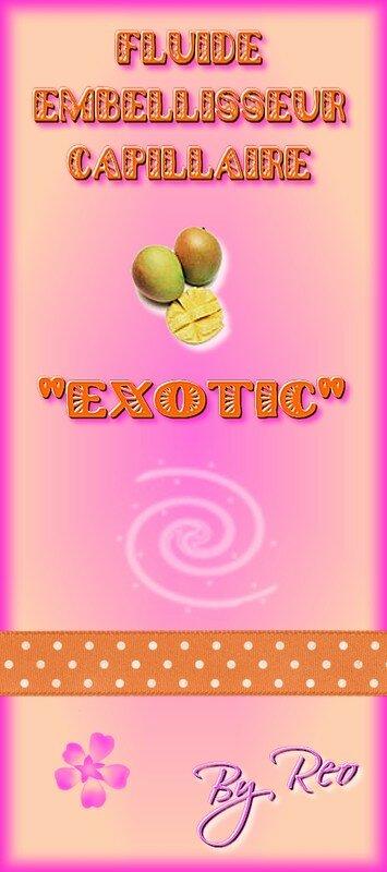 etiquette fluide capillaire exotic