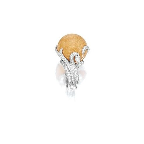 Melo-Pearl and Diamond Ring 2