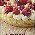 ..framtastik (sans gluten) : framboise, citron et chocolat blanc..
